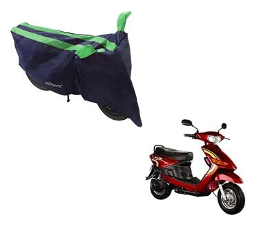 Picture of Sporty Arc Blue Green Two Wheeler Cover For Yo Spark