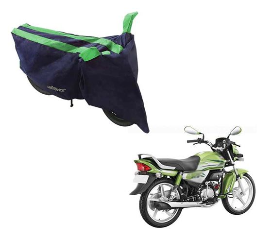 Picture of Sporty Arc Blue Green Two Wheeler Cover For Hero HF Deluxe Eco