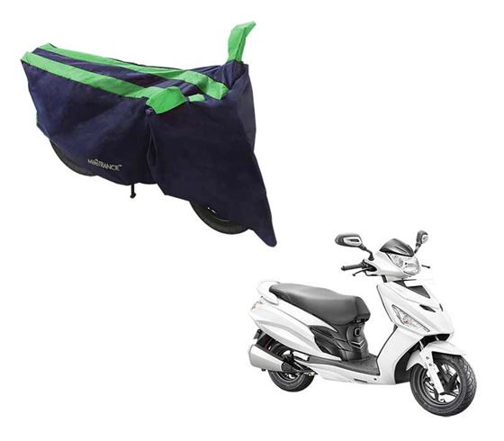 Picture of Sporty Arc Blue Green Two Wheeler Cover For Hero Maestro Edge