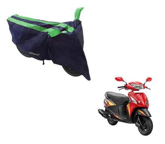 Picture of Sporty Arc Blue Green Two Wheeler Cover For Hero Pleasure