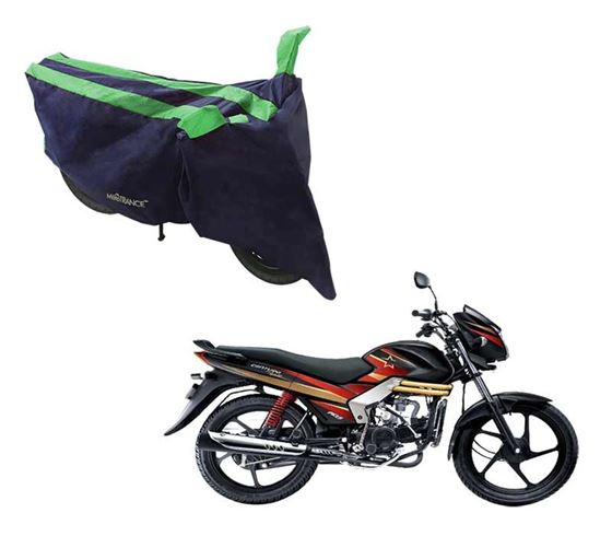 Picture of Sporty Arc Blue Green Two Wheeler Cover For Mahindra Centuro Rockstar