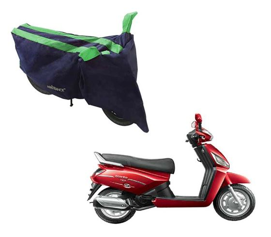 Picture of Sporty Arc Blue Green Two Wheeler Cover For Mahindra Gusto 125