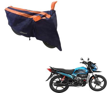 Picture of Sporty Arc Blue Orange Two Wheeler Cover For Hero Passion Pro TR