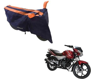 Picture of Sporty Arc Blue Orange Two Wheeler Cover For Bajaj Discover 125 ST