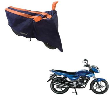 Picture of Sporty Arc Blue Orange Two Wheeler Cover For Bajaj XCD 135