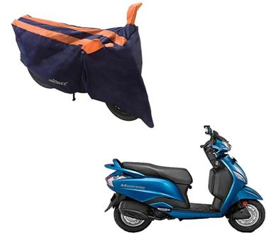 Picture of Sporty Arc Blue Orange Two Wheeler Cover For Hero Maestro