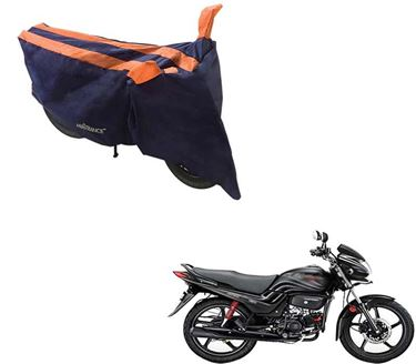 Picture of Sporty Arc Blue Orange Two Wheeler Cover For Hero Passion Pro