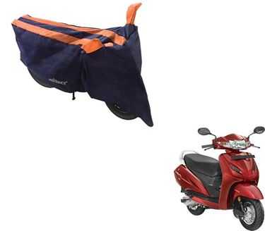 Picture of Sporty Arc Blue Orange Two Wheeler Cover For Honda Activa 4G