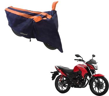 Picture of Sporty Arc Blue Orange Two Wheeler Cover For Honda CB Twister