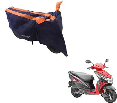 Picture of Sporty Arc Blue Orange Two Wheeler Cover For Honda Dio
