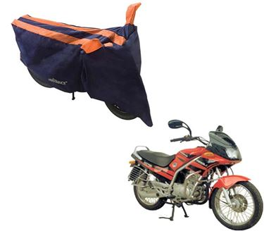 Picture of Sporty Arc Blue Orange Two Wheeler Cover For Kinetic GF Lazer