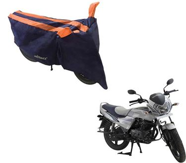 Picture of Sporty Arc Blue Orange Two Wheeler Cover For LML Freedom