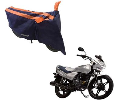 Picture of Sporty Arc Blue Orange Two Wheeler Cover For LML Freedom Prima