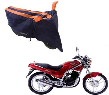 Picture of Sporty Arc Blue Orange Two Wheeler Cover For LML Graptor