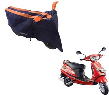 Picture of Sporty Arc Blue Orange Two Wheeler Cover For Mahindra Duro 125