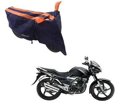 Picture of Sporty Arc Blue Orange Two Wheeler Cover For Suzuki GS 150R