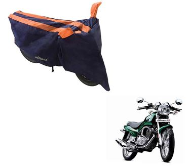 Picture of Sporty Arc Blue Orange Two Wheeler Cover For TVS Fiero FX