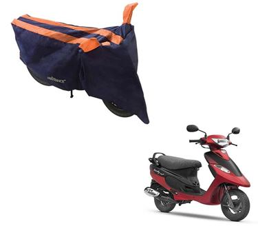 Picture of Sporty Arc Blue Orange Two Wheeler Cover For TVS Scooty Pep Plus