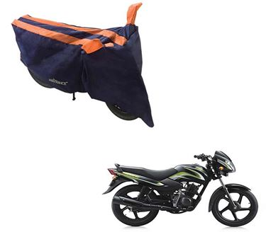 Picture of Sporty Arc Blue Orange Two Wheeler Cover For TVS Star Sport