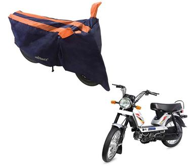 Picture of Sporty Arc Blue Orange Two Wheeler Cover For TVS XL Super