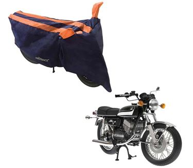 Picture of Sporty Arc Blue Orange Two Wheeler Cover For Yamaha RD 350