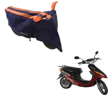 Picture of Sporty Arc Blue Orange Two Wheeler Cover For Yo Electron ER