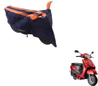 Picture of Sporty Arc Blue Orange Two Wheeler Cover For Yo EXL