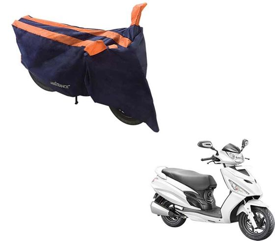 Picture of Sporty Arc Blue Orange Two Wheeler Cover For Hero Maestro Edge