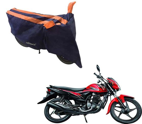Picture of Sporty Arc Blue Orange Two Wheeler Cover For Suzuki Hayate EP