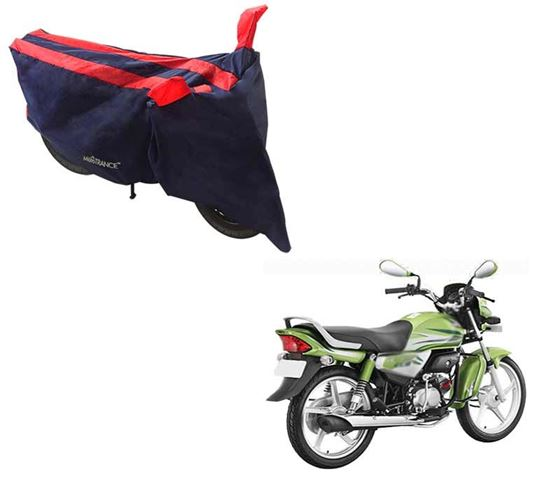 Picture of Sporty Arc Blue Red Two Wheeler Cover For Hero HF Deluxe Eco