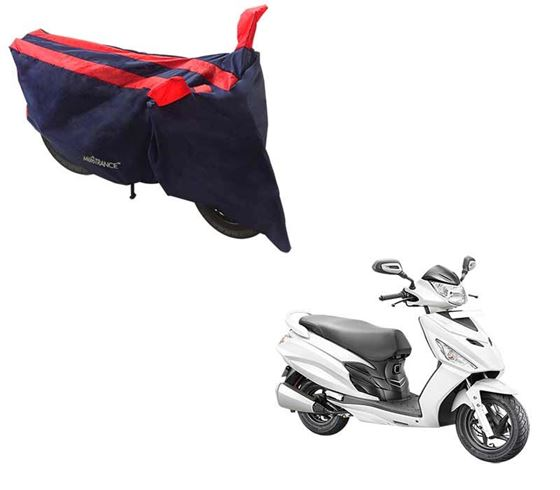 Picture of Sporty Arc Blue Red Two Wheeler Cover For Hero Maestro Edge