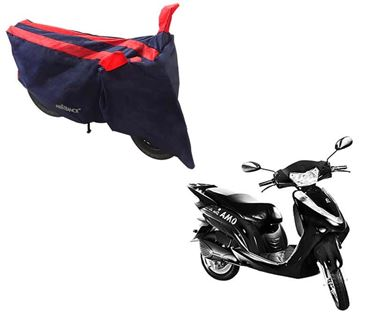 Picture of Sporty Arc Blue Red Two Wheeler Cover For Lohia Omastar