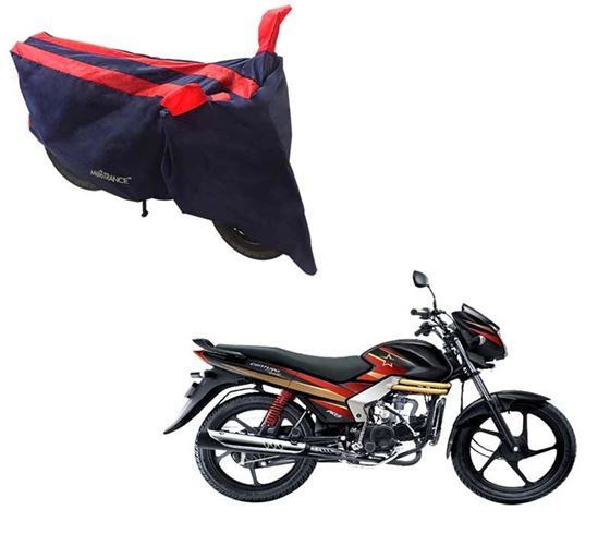 Picture of Sporty Arc Blue Red Two Wheeler Cover For Mahindra Centuro Rockstar