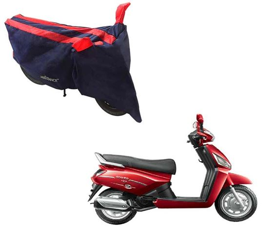 Picture of Sporty Arc Blue Red Two Wheeler Cover For Mahindra Gusto 125
