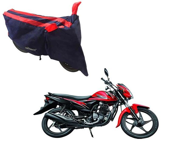 Picture of Sporty Arc Blue Red Two Wheeler Cover For Suzuki Hayate EP