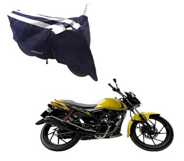 Picture of Sporty Arc Blue White Two Wheeler Cover For Suzuki Sling Shot