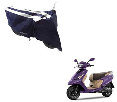 Picture of Sporty Arc Blue White Two Wheeler Cover For TVS Scooty Zest 110