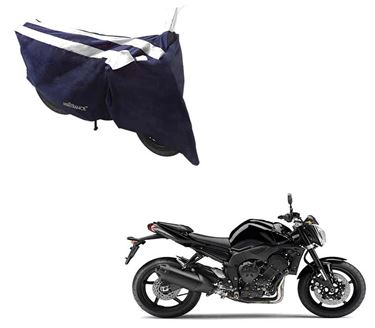 Picture of Sporty Arc Blue White Two Wheeler Cover For Yamaha FZ
