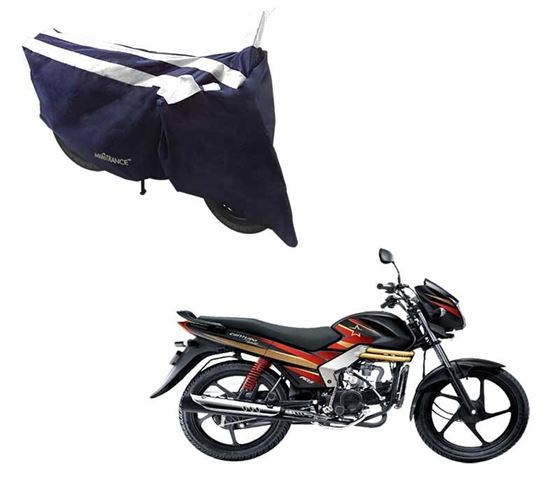 Picture of Sporty Arc Blue White Two Wheeler Cover For Mahindra Centuro Rockstar