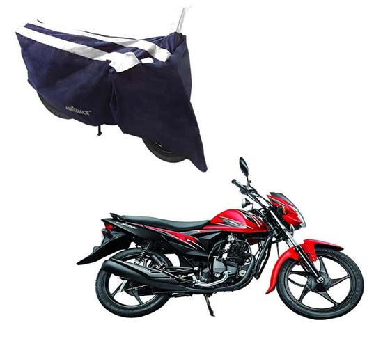 Picture of Sporty Arc Blue White Two Wheeler Cover For Suzuki Hayate EP