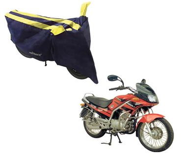 Picture of Sporty Arc Blue Yellow Two Wheeler Cover For Kinetic GF Lazer