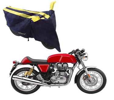Picture of Sporty Arc Blue Yellow Two Wheeler Cover For Royal Enfield GT