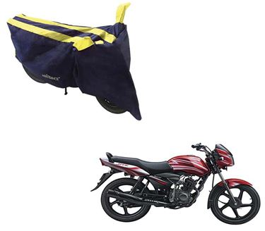 Picture of Sporty Arc Blue Yellow Two Wheeler Cover For TVS Jive