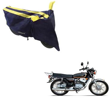 Picture of Sporty Arc Blue Yellow Two Wheeler Cover For Yamaha RX135