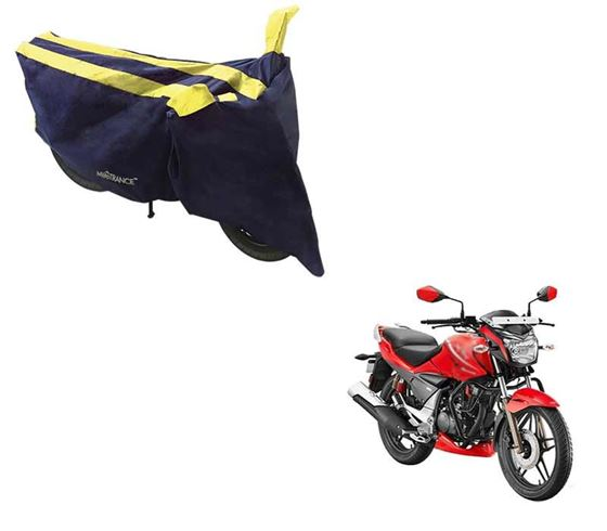 Picture of Sporty Arc Blue Yellow Two Wheeler Cover For Hero Xtreme Sports