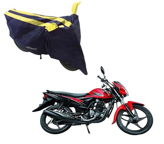Picture of Sporty Arc Blue Yellow Two Wheeler Cover For Suzuki Hayate EP