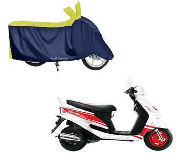 Picture of Sporty Yellow Blue Two Wheeler Cover For Mahindra Rodeo UZO