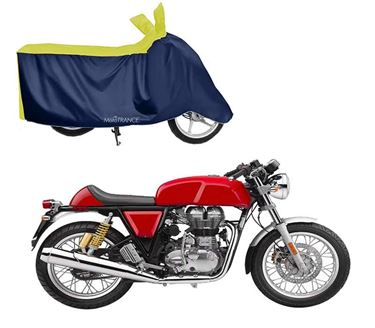 Picture of Sporty Yellow Blue Two Wheeler Cover For Royal Enfield GT