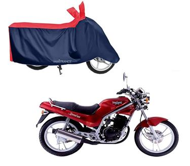 Picture of Sporty Red Blue Two Wheeler Cover For LML Graptor