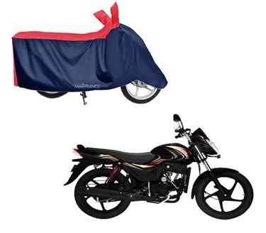 Picture of Sporty Red Blue Two Wheeler Cover For Mahindra Pantero